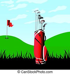 campo, golf, paesaggio