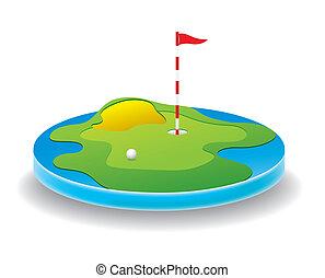 campo, golf