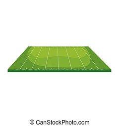 campo, isolato, icona americana, football