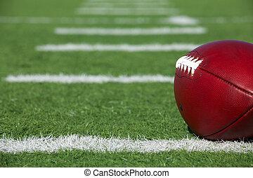 campo, pro, football, americano