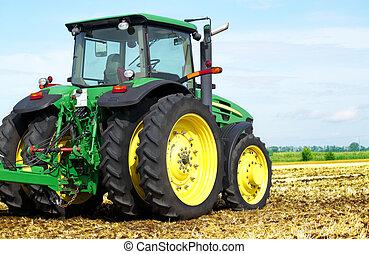 campo, trattore