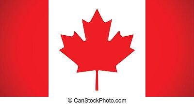 canada, flag., vettore, illustration.