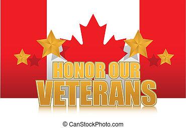 canada, nostro, veterani, onore, oro