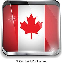 canada, smartphone, bottoni, domanda, bandiera, quadrato