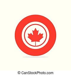 canada, vettore, disegno, giorno indipendenza, scheda