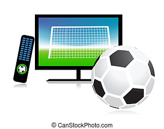 canale, sport, fiammifero, tv, football