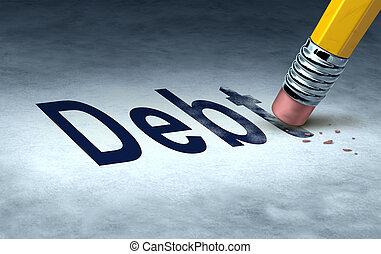 cancellare, debito