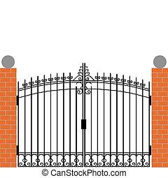 cancello, ferro