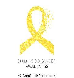 cancro, nastro, consapevolezza, infanzia