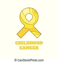 cancro, nastro, consapevolezza, papercut, infanzia