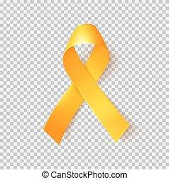 cancro, simbolo, mondo, february., realistico, 15, infanzia, oro, ribbon.
