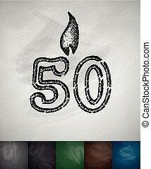 candela, cinquanta, icona