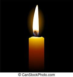 candela, sfondo nero
