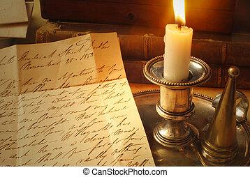 candela, vecchia lettera