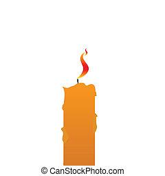 candela, vettore, illustrazione
