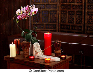 candela, vita, ancora, aromatico, terme