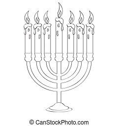 candeliere, contorno, isolato