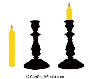 candelieri, candle.