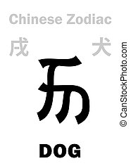 cane, astrology:, cinese, zodiac), (sign