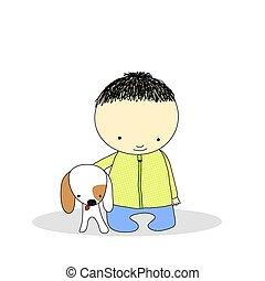 cane, capretto