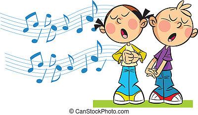 cantare, bambini