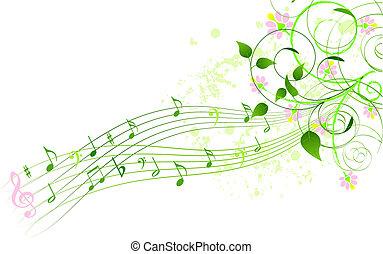 canzone, primavera, fondo