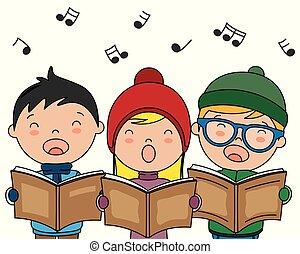 canzoni, libri, canto, natale, bambini