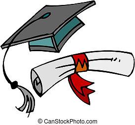 cap., diploma, graduazione
