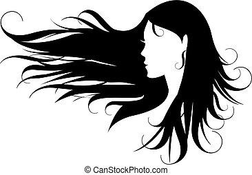 capelli, nero