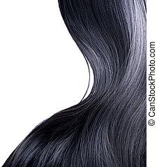 capelli, sopra, nero, bianco