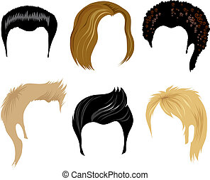 capelli, uomini, styling