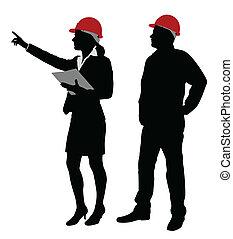 caposquadra, lavorativo, ingegnere