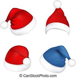 cappelli, claus, set, santa