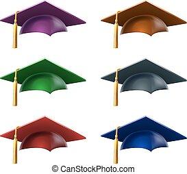 cappelli, laureato, o, cappucci