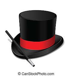 cappello, bacchetta, magia