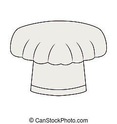 cappello chef, isolato