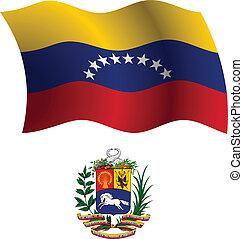 cappotto, bandiera, ondulato, venezuela