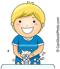 capretto, mani lavano