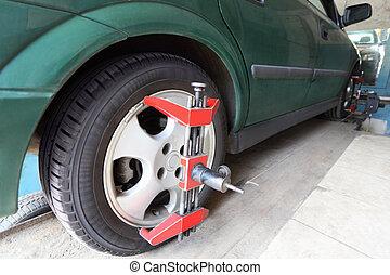 car-care, riparazione, verde, centro, automobile