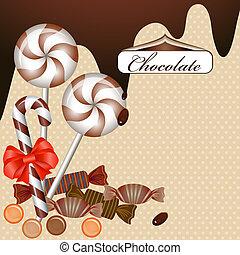caramella cioccolato, fondo
