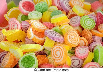caramella, colorito, gelatina