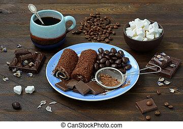 caramelle, vita, ancora, cioccolato