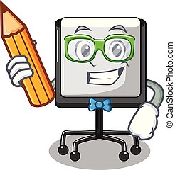 carattere, asse, studente, vuoto, tavola, presentazione