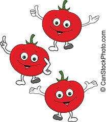 carattere, cartone animato, pomodoro