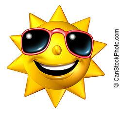 carattere, felice, sole