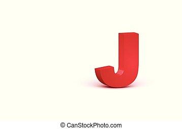 carattere, illustrazione, realistico, vettore, rosso, 3d