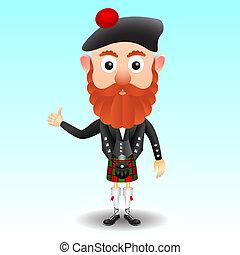 carattere, kilt, scozzese