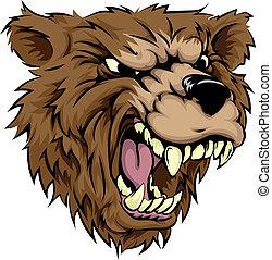 carattere, orso, mascotte