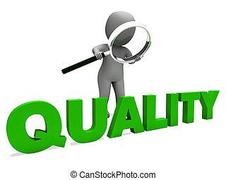 carattere, perfezione, eccellente, approvazione, qualità, mostra