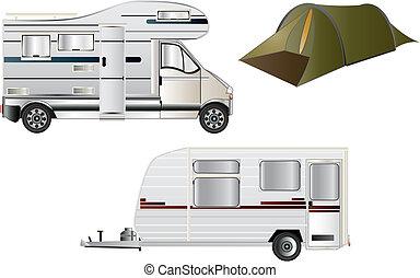 caravan, campeggio